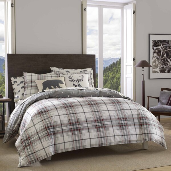 Alder Plaid 100% Cotton Duvet Cover Set by Eddie Bauer
